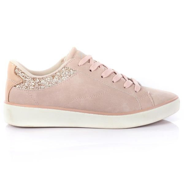 GIRLS NUDE CASUAL LOW SNEAKERS - ruffntumblekids