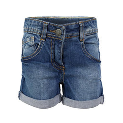 Dark Blue Denim Short_ruffntumble