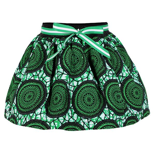 Green Ankara Print Skirt_Ruffntumble