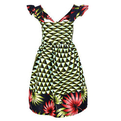 GIRLS MULTI FIT&FLARE ANKARA DRESS_RUFFNTUMBLE