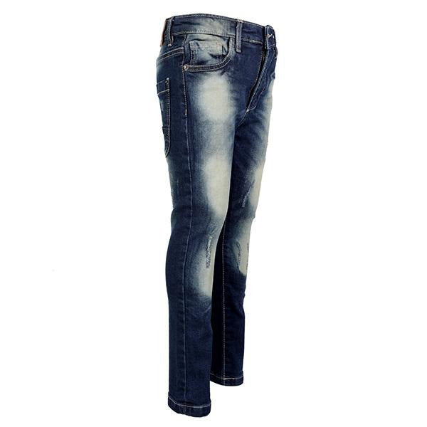 BOYS DARK RIPPED DENIM TROUSER