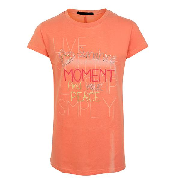 GIRLS ORANGE SHORT SLEEVE GRAPHIC GIRL TEE - ruffntumblekids