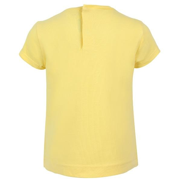 BABY GIRL YELLOW SHORT SLEEVE COTTON T-SHIRT - ruffntumblekids