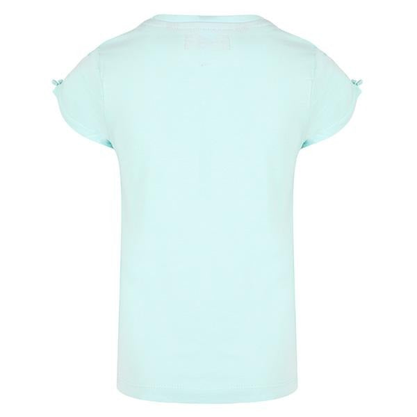 GIRLS AQUA SHORT SLEEVE KNITTED T-SHIRT - ruffntumblekids