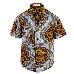 multi color ankara short sleeve shirt-ruffntumble