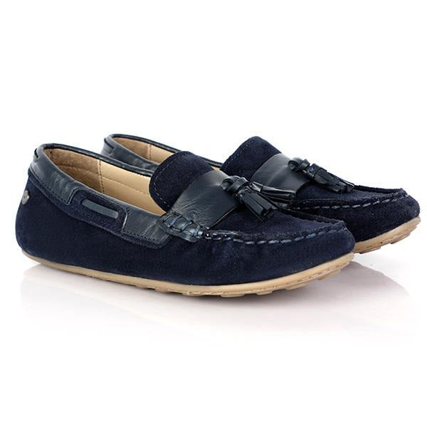 Blue Suede Casual Moccasin_Ruffntumble