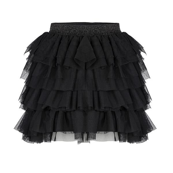 GIRLS BLACK TULLE SKIRT - ruffntumblekids