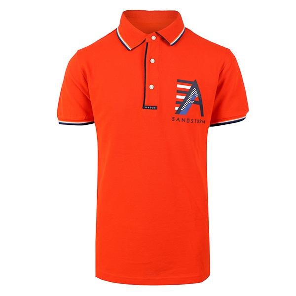 BOYS ORANGE SHORT SLEEVE LETTERING POLO - ruffntumblekids