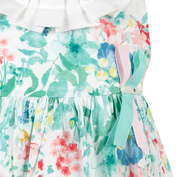BIG GIRLS AQUA FLORAL DRESS - ruffntumblekids