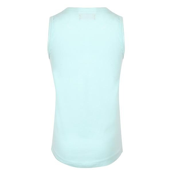AQUA SLEEVELESS TOP WITH BOWS