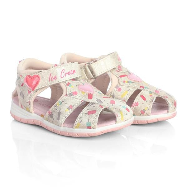 BABY GIRLS PINK T-BAR SANDALS