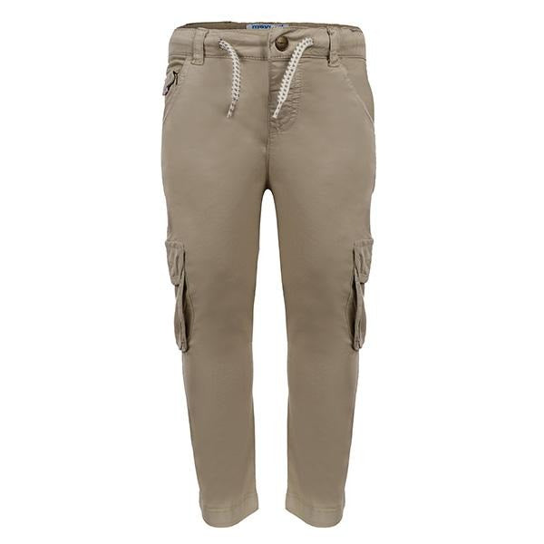 BOYS 7 POCKET BEIGE CARGO TROUSER