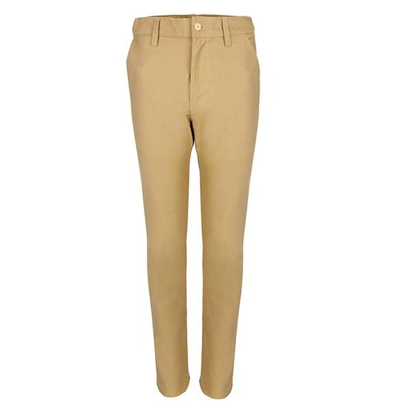 BOYS 3 POCKET BEIGE SLIM FIT TROUSER - ruffntumblekids