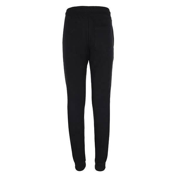 BOYS BLACK CUFFED FLEECE JOGGERS - ruffntumblekids
