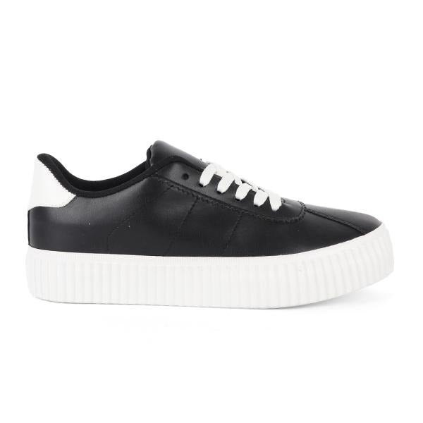 BIG GIRLS BLACK HIGH TOP SNEAKERS - ruffntumblekids