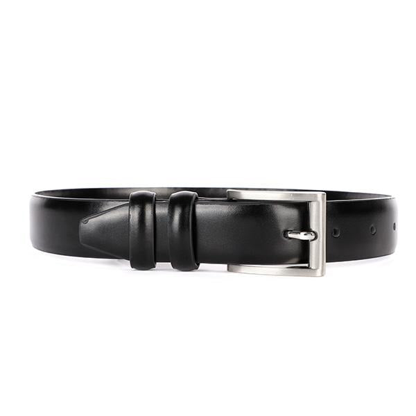 Boys Black Leather Belt