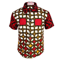 black and red ankara shirt-ruffntumble