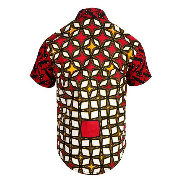 BOYS BLACK, RED ANKARA SHIRT - ruffntumblekids