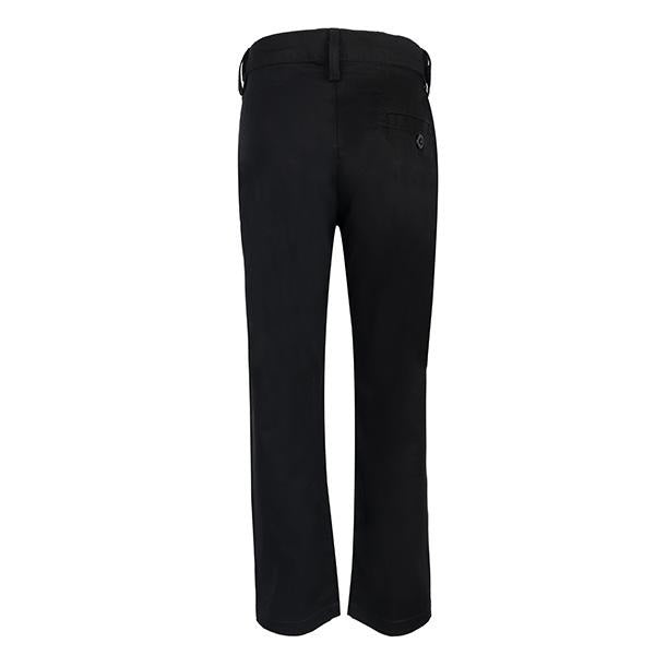 BOYS BLACK REGULAR FIT TROUSER - ruffntumblekids