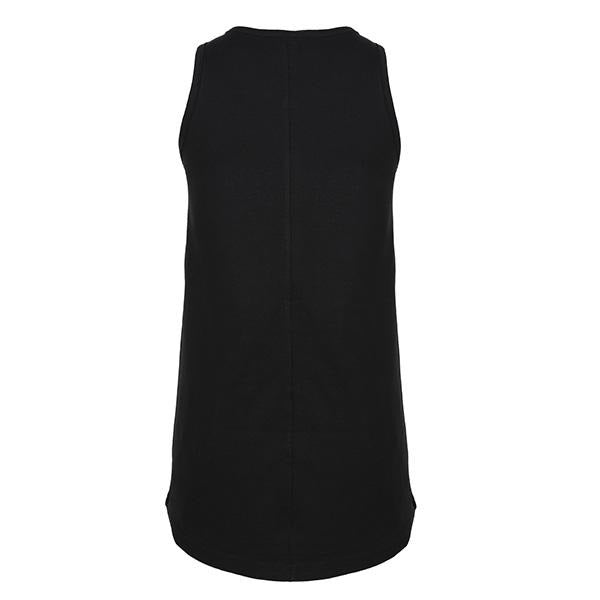 BIG GIRLS BLACK SLEEVELESS DRESS - ruffntumblekids