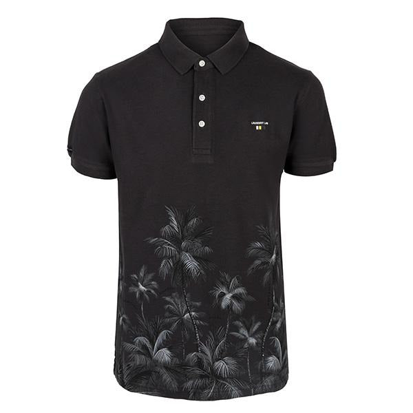 black short sleeve polo-ruffntumble
