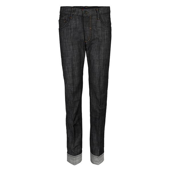 black stone wash denim trouser-ruffntumble