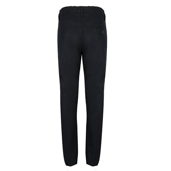 BOYS BLACK STRAIGHT FIT TROUSER - ruffntumblekids