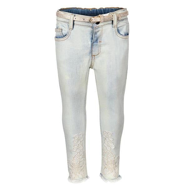 Bleached Denim Slim Fit Pants