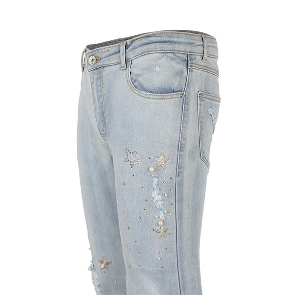 BIG GIRLS BLEACHED DENIM TROUSER - ruffntumblekids