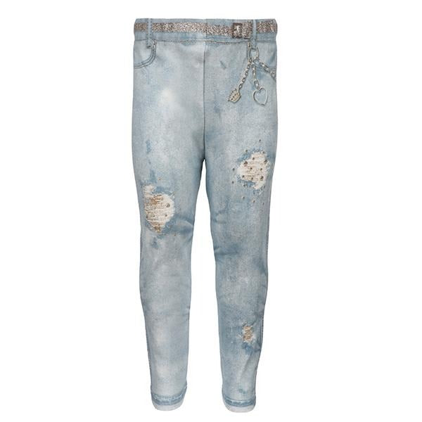 BABY GIRLS BLEACHED PATCHED LEGGINGS - ruffntumblekids