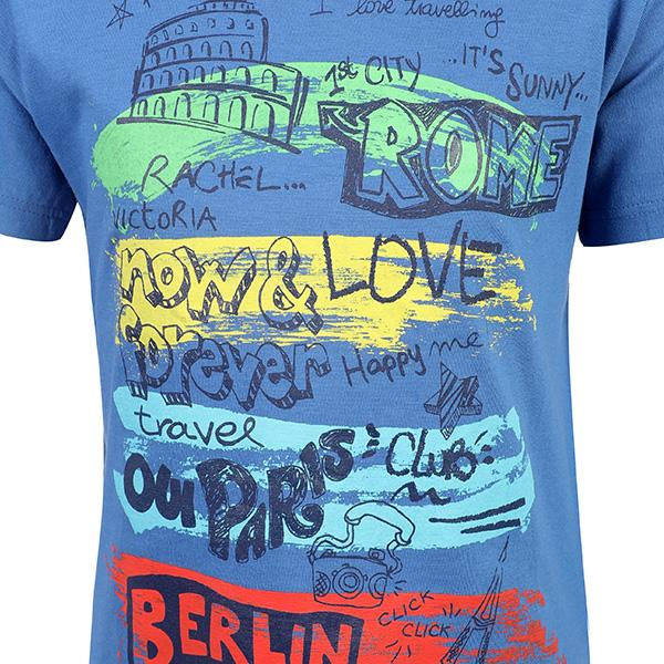 BOYS BLUE GRAPHIC T-SHIRT - ruffntumblekids