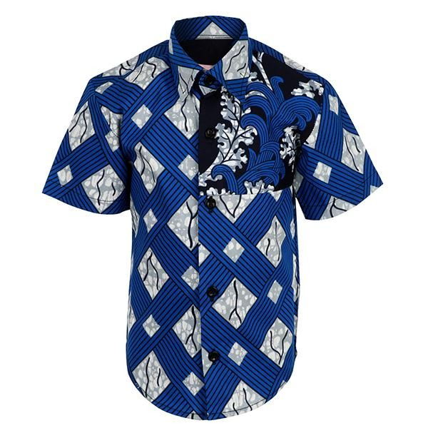 BLUE ANKARA SHIRT