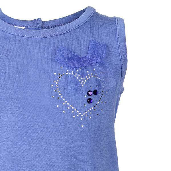 BABY Girls Blue Seleveless T-shirt - ruffntumblekids
