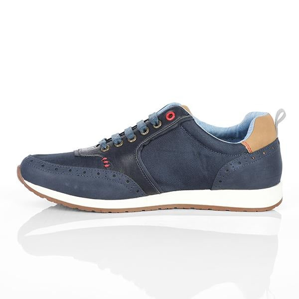 BOYS BLUE CASUAL LOW TOP SNEAKERS - ruffntumblekids