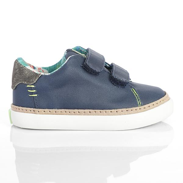 BOYS BLUE CASUAL VELCRO SNEAKERS