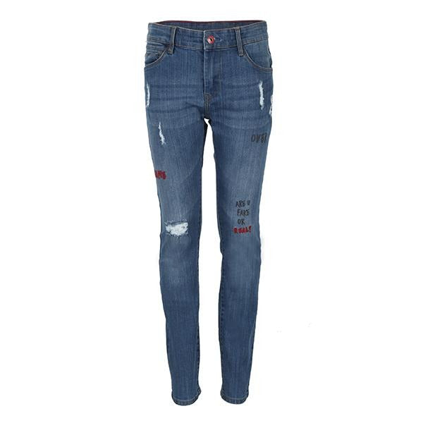 slim fit blue denim trouser-ruffntumble