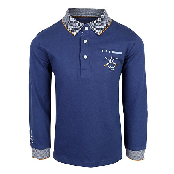 blue long sleeve polo-ruffntumble