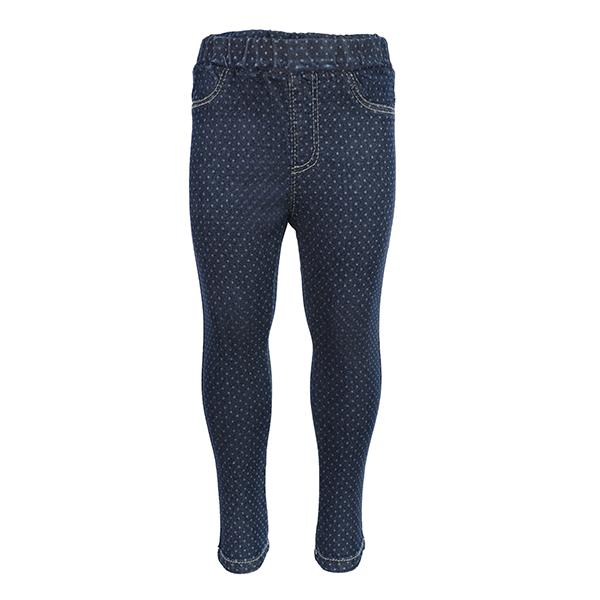 BABY GIRLS BLUE PRINTED TROUSER - ruffntumblekids