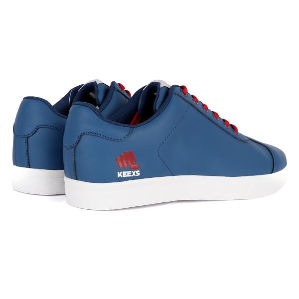 BOYS BLUE AND RED LACE UP SNEAKERS - ruffntumblekids