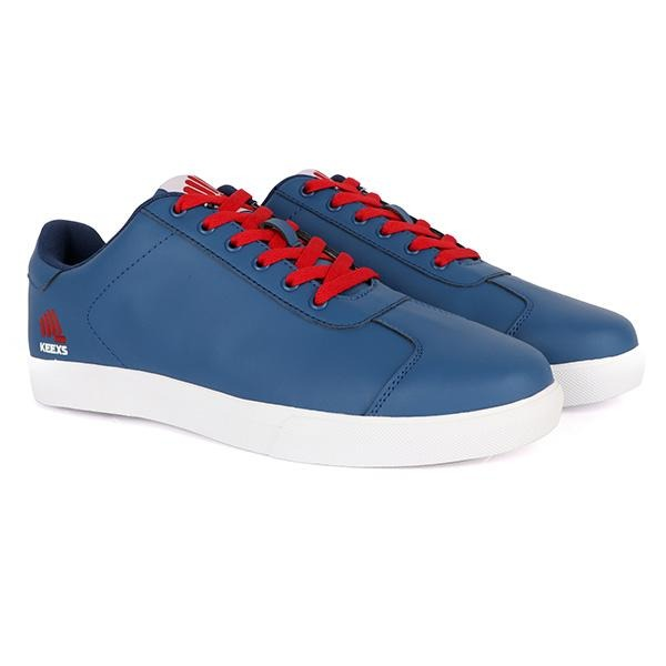 blue/red lace up sneakers