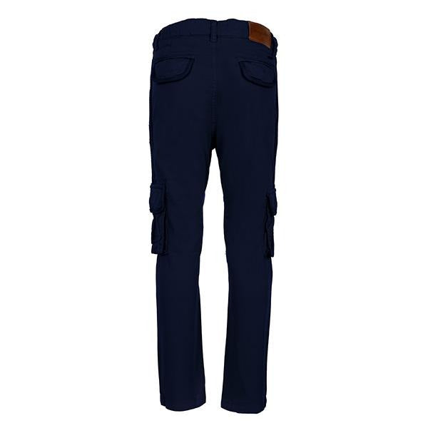 BOYS BLUE REGULAR FIT CARGO PANTS - ruffntumblekids