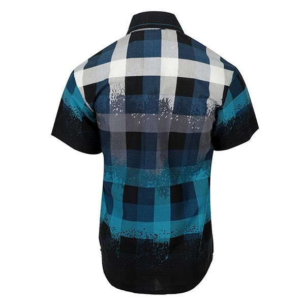 BOYS BLUE BIG CHECK SHIRT - ruffntumblekids