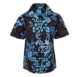 blue floral short sleeve shirt-ruffntumble