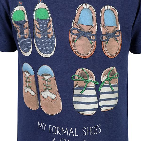 BOYS BLUE SHOE T-SHIRT - ruffntumblekids