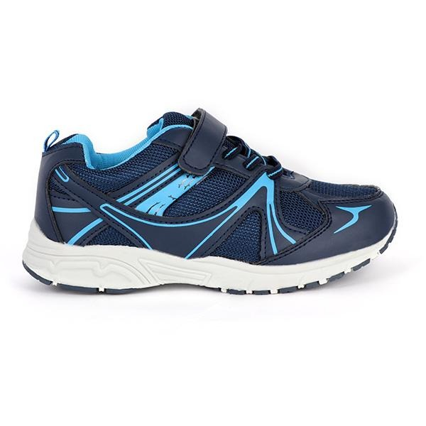 BOYS BLUE VELCRO & LACE UP SNEAKERS - ruffntumblekids