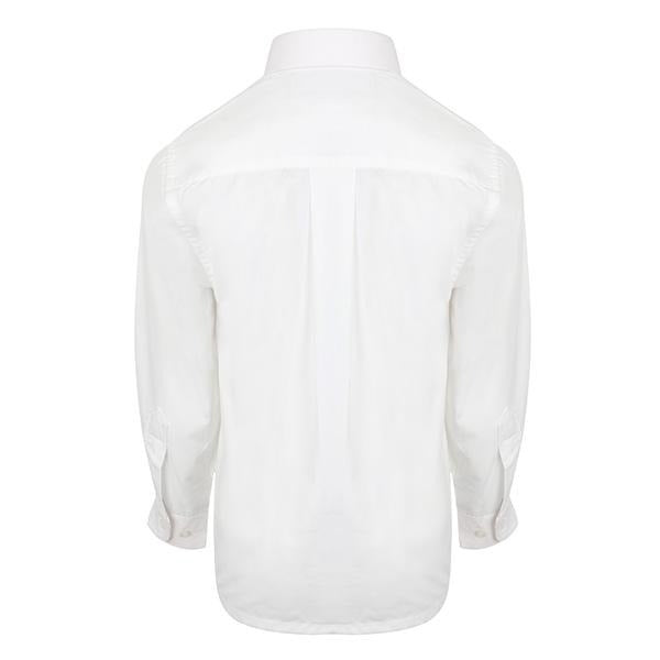 BOYS LONG SLEEVE WHITE PACKET SHIRT - ruffntumblekids