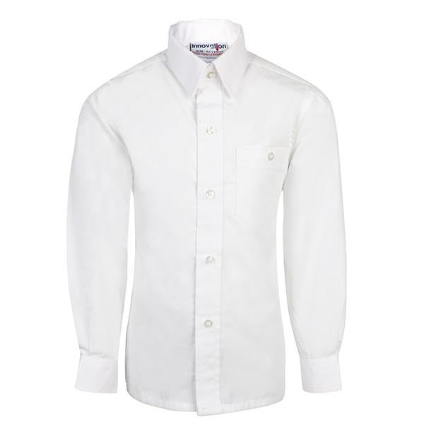 boys white packet shirt