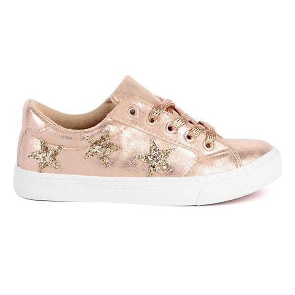 BABY GIRLS BRONZE EMBELLISHED SNEAKERS