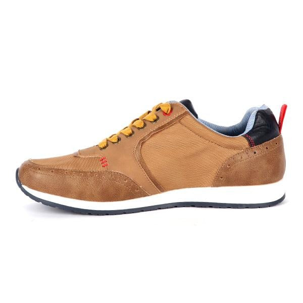 BOYS BROWN CASUAL LOW TOP SNEAKERS