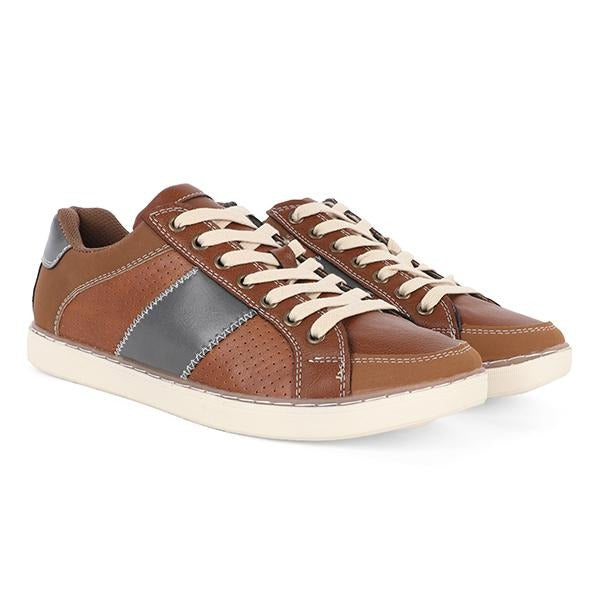 BROWN SUEDE LACE UP SNEAKERS